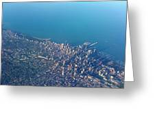 Chicago From Way Up Greeting Card