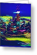 Chicago Gold Coast Abstract Greeting Card