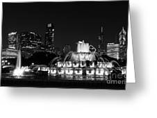Chicago Grant Park Grayscale Greeting Card