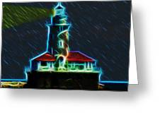 Chicago Harbor Lighthouse Greeting Card