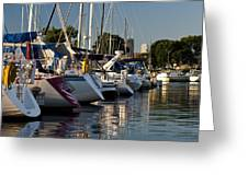 Chicago Harbor Scene Greeting Card