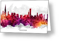 Chicago Illinois Cityscape 14 Greeting Card