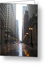 Chicago In The Rain 2 Greeting Card
