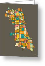Chicago Greeting Card by Jazzberry Blue