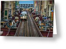 Chicago L Greeting Card