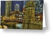Chicago La Salle Street Bridge Greeting Card