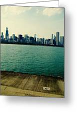 Chicago Lake Michigan Skyline Greeting Card
