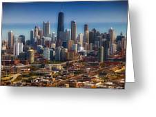 Chicago Looking East 01 Greeting Card