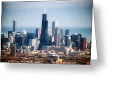 Chicago Looking East 02 Greeting Card