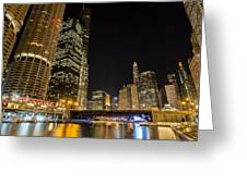 Chicago - Looking East From Dearborn Street Greeting Card