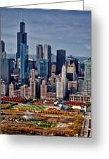 Chicago Looking West 02 Greeting Card
