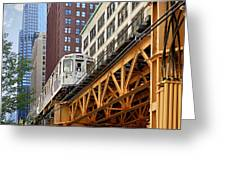Chicago Loop 'l' Greeting Card