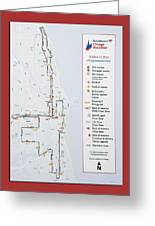 Chicago Marathon Race Day Route Map 2014 Greeting Card