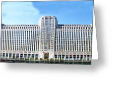 Chicago Merchandise Mart South Facade Greeting Card