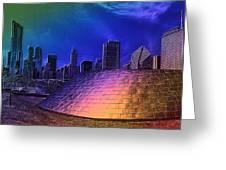 Chicago Millennium Park Bp Bridge Pa 01 Prismatic Greeting Card