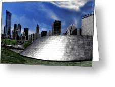 Chicago Millennium Park Bp Bridge Pa 01 Greeting Card