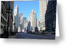 Chicago Miracle Mile Greeting Card
