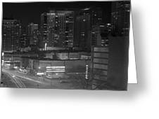 Chicago Night Greeting Card