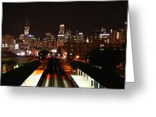 Chicago Night Sky Greeting Card