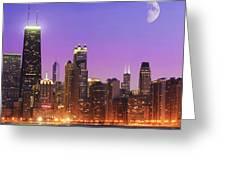 Chicago Oak Street Beach Greeting Card
