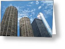 Chicago On A Bright Blue Day Greeting Card