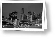 Chicago Park In Lights Greeting Card