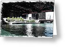 Chicago Parked On The River In June 03 Pa 01 Greeting Card