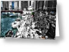 Chicago Parked On The River Walk 03 Sc Greeting Card