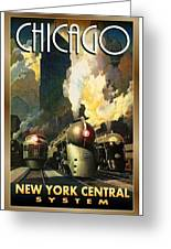 Chicago Railway, Steam Trains Greeting Card