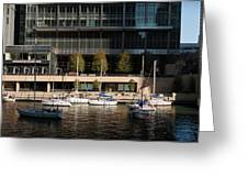 Chicago River Boats Greeting Card
