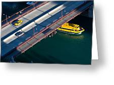 Chicago River Crossing Greeting Card