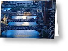 Chicago River First Light Greeting Card