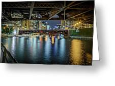 Chicago River Hd Greeting Card