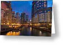 Chicago River Lights Greeting Card
