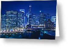Chicago River Panorama Greeting Card