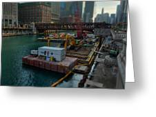 Chicago Riverwalk Construction II Greeting Card