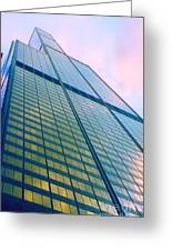 Chicago Sears Willis Tower Pop Art Greeting Card