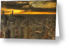 Chicago Setting Greeting Card