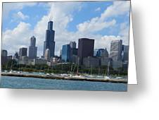 Chicago Skyline 7 Greeting Card