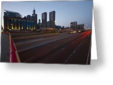 Chicago Skyline And Expressway Greeting Card