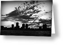 Chicago Skyline At Dusk Greeting Card
