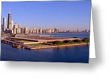 Chicago Skyline, Filtration Plant Greeting Card