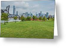 Chicago Skyline From The Southside Greeting Card