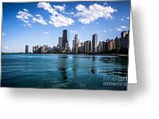 Chicago Skyline Photo With Hancock Building Greeting Card