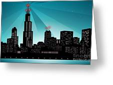 Chicago Skyline Greeting Card by Sandra Hoefer