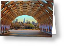 Chicago Skyline - South Pond Pavilion Greeting Card