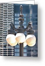 Chicago Street Lamps Greeting Card