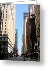 Chicago Street With Flags Greeting Card
