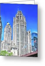 Chicago The Gothic Tribune Tower Greeting Card