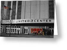 Chicago United Center Signage Sc Greeting Card